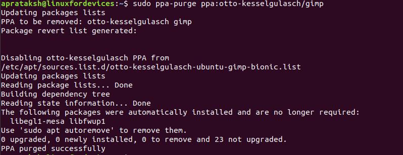 Remove Repository Purge