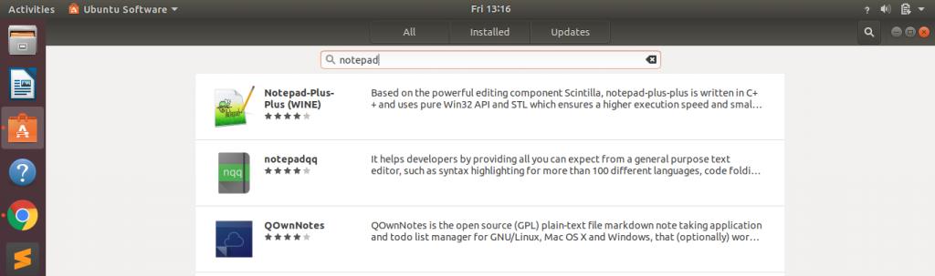 Ubuntu Notepad Gui
