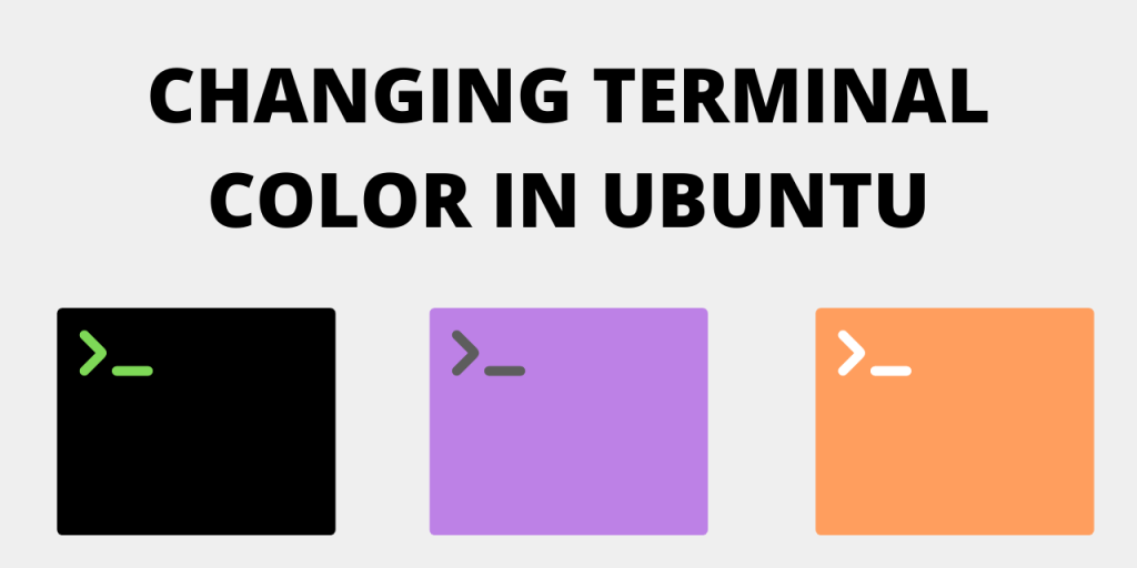 Change terminal Color In Ubuntu