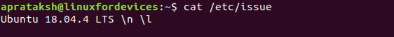 Linux Version Cat Issue
