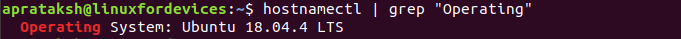 Linux Version Hostnamectl