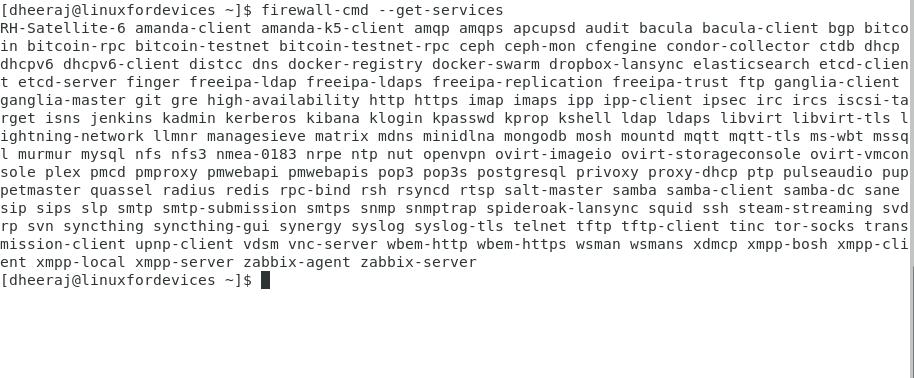 Firewalld Services 1