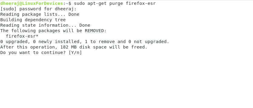 Uninstalling Firefox