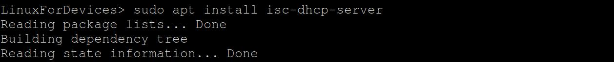Apt Install Dhcp Server