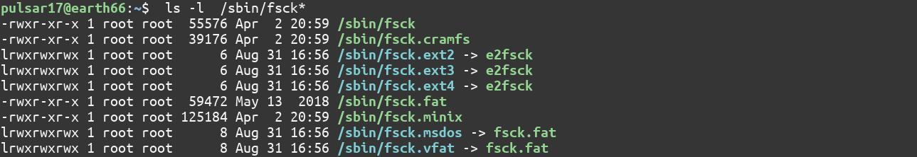 Different Fscks