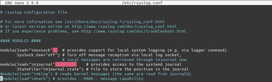 Rsylog Configuration