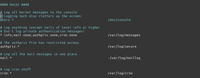 Rsylog Configuration2