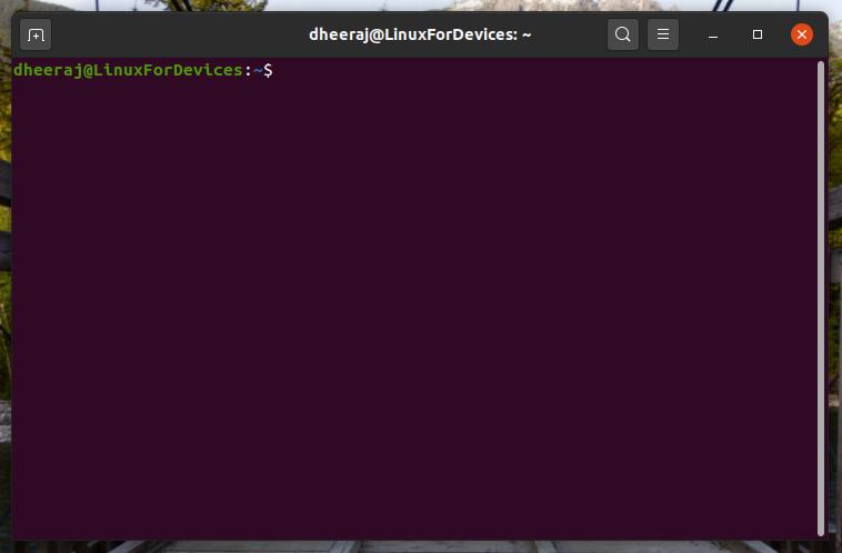The Ubuntu Terminal