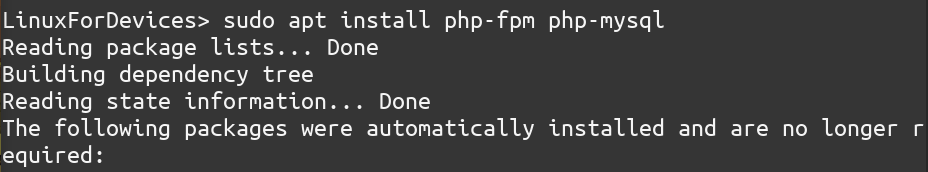 Apt Install Php