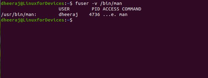 Using Fuser For Files