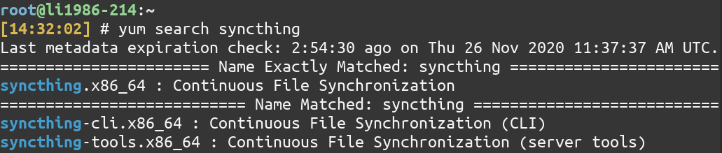 Yum Install Syncthing