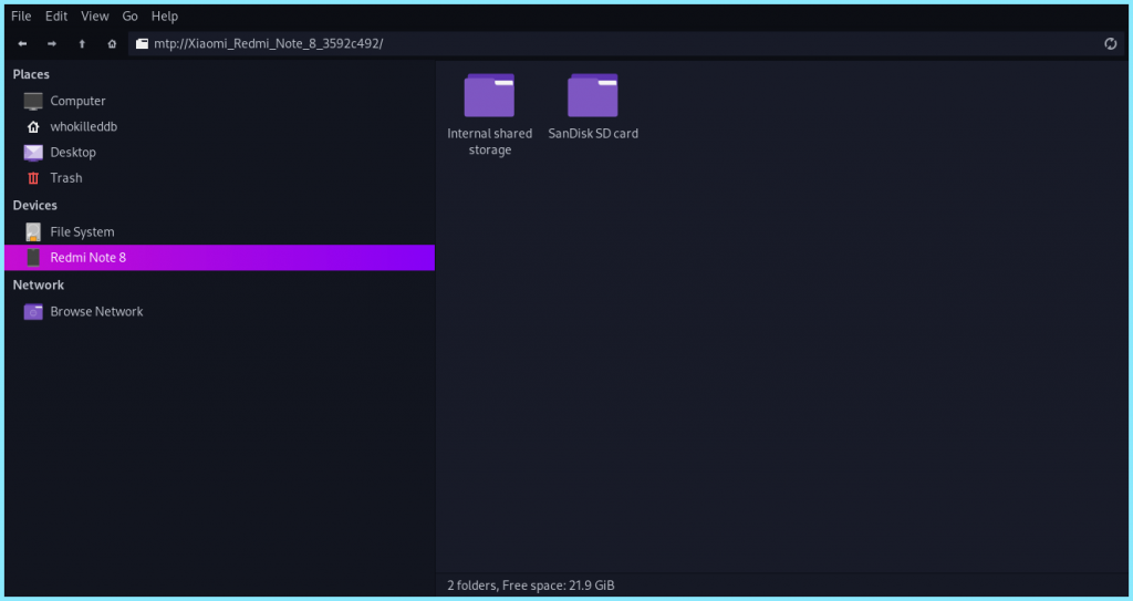 Accessing Device Files From Our File Manager