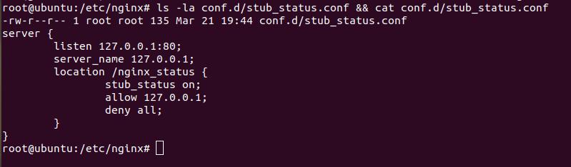 Stub Status Configuration