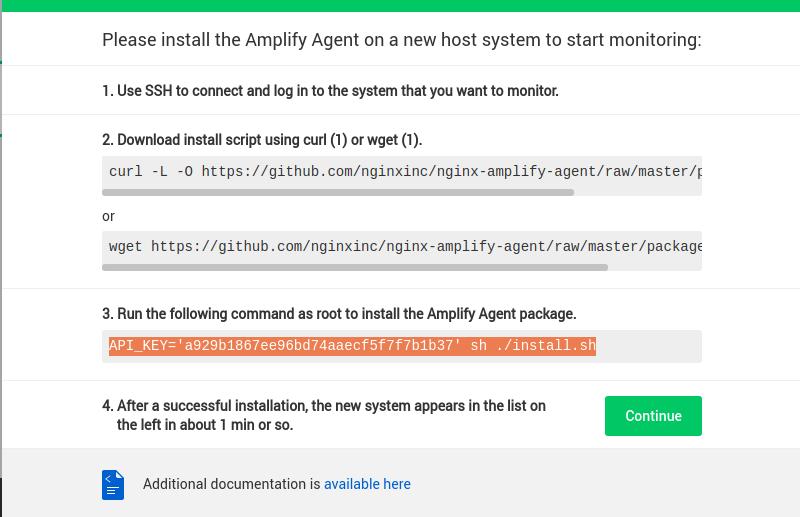 Tutorial Screen Unique API Key