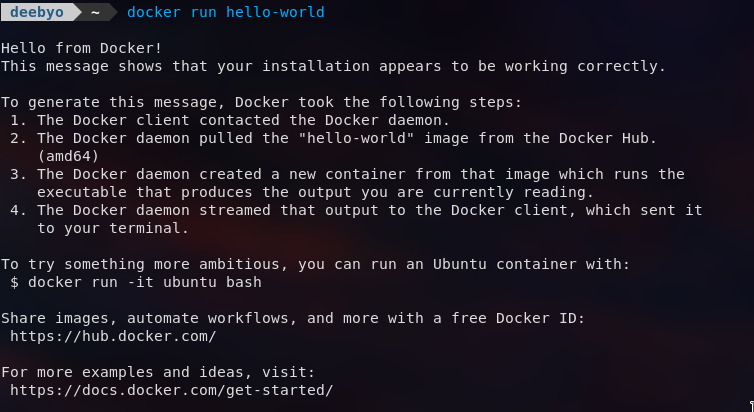 Docker Hello World