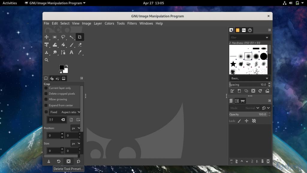 GIMP Window 1