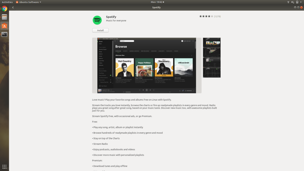 Spotify In Software Center