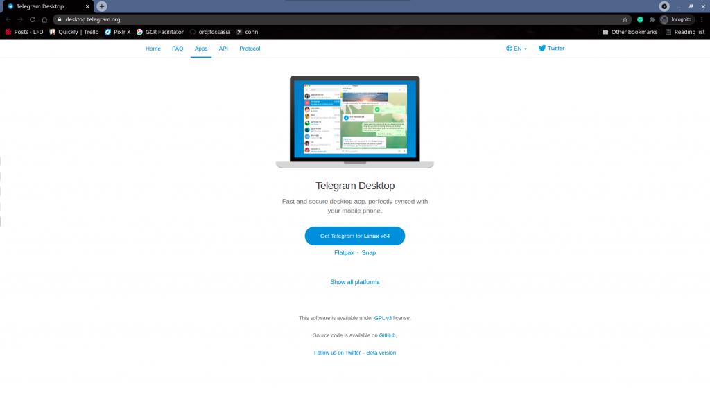Telegram Desktop Download Page