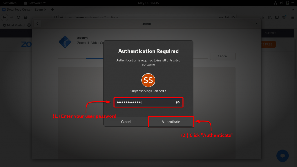 Authenticate Your User