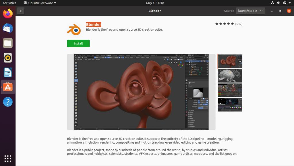 Blenders Ubuntu Software Installation Page