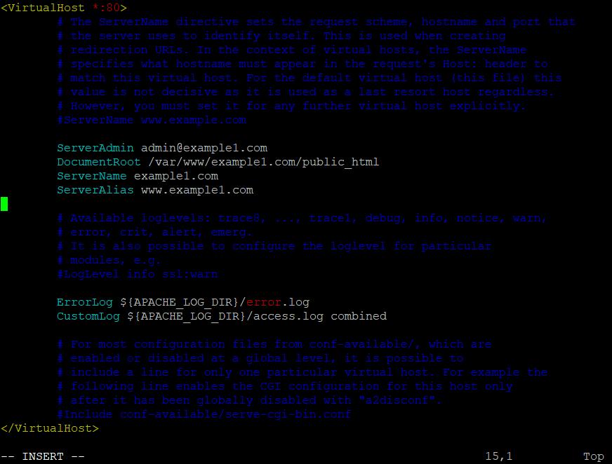 Edit Virtual Host File 1