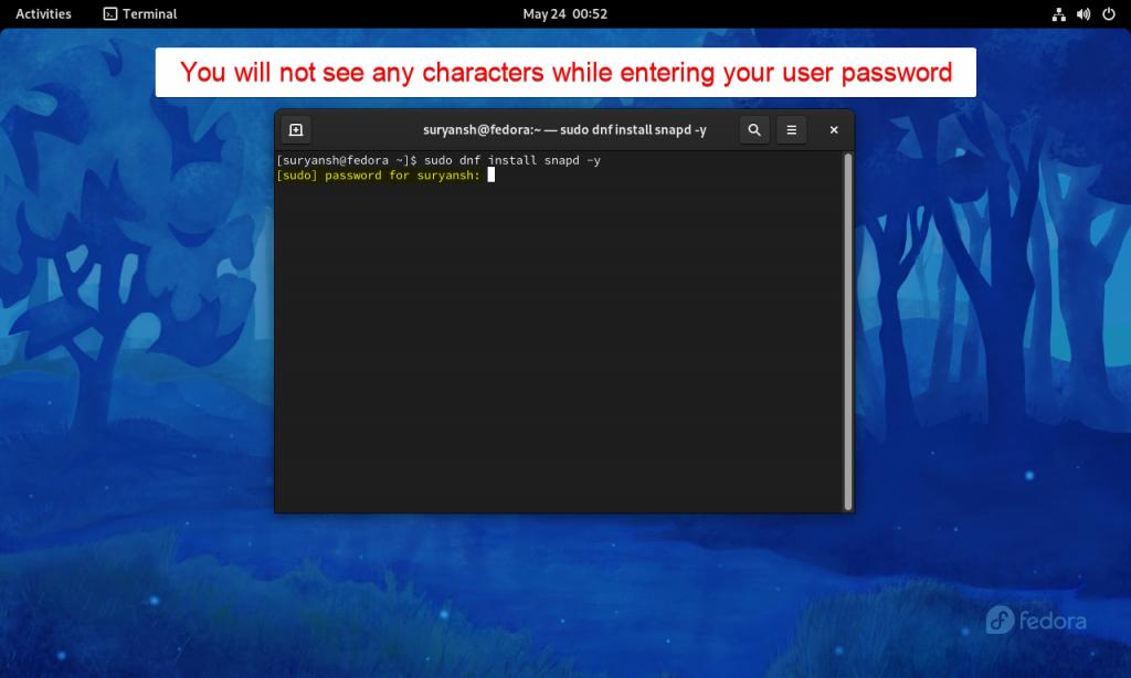 Enter Your User Password In Terminal