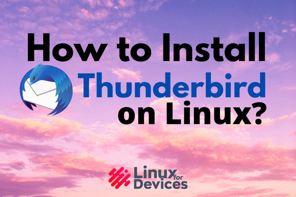 How To Install Thunderbird On Linux Logo