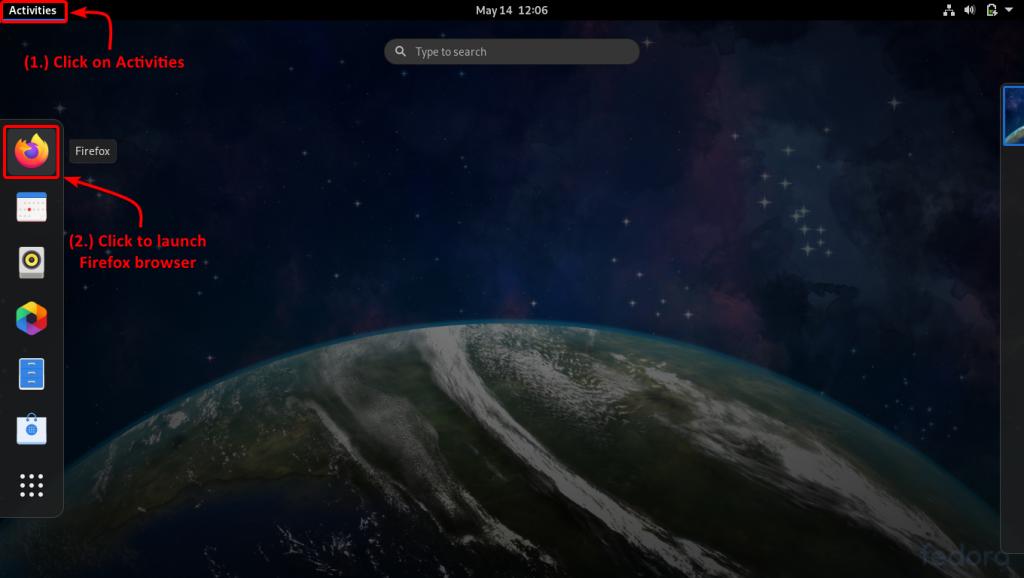 Launch Firefox Browser