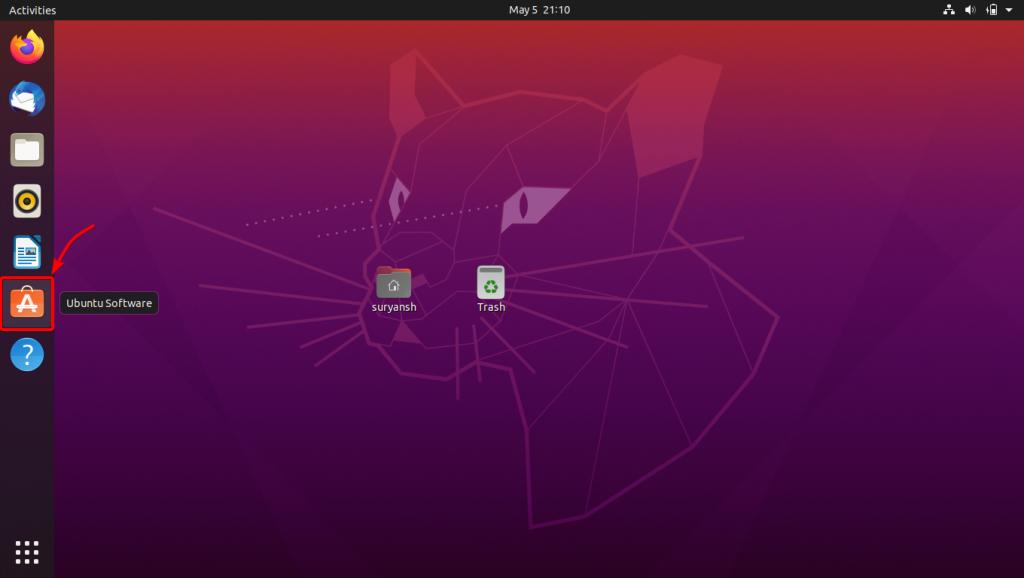 Launch Ubuntu Software