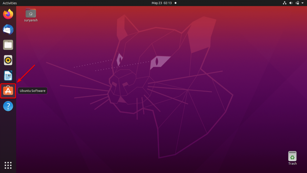Launch Ubuntus Software Center