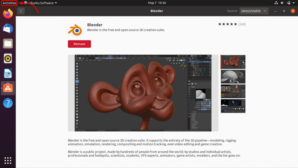 Launching Blender From Activities 1