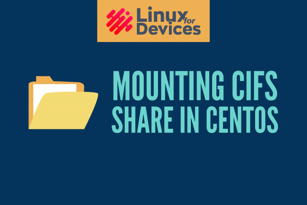 Mounting Cifs Share In CentOS