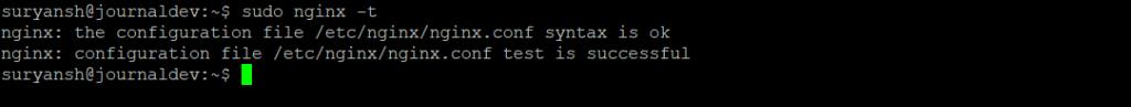 NGINX Configuration Test Successful