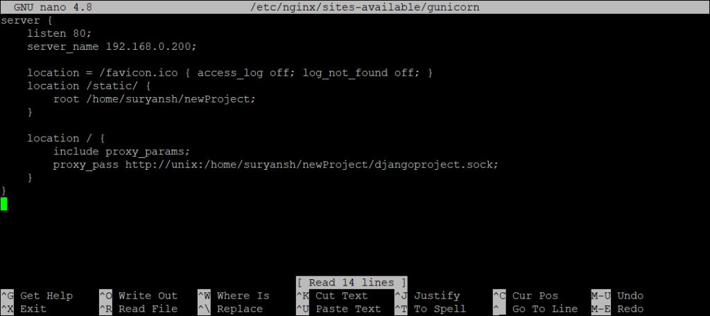 NGINX Reverse Proxy Configuration