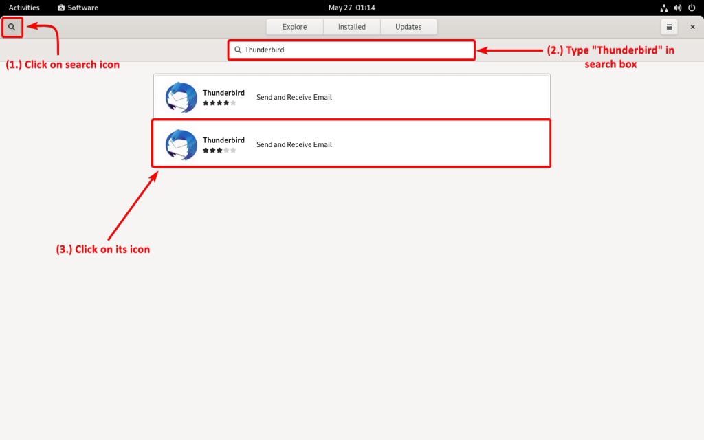 Search For Thunderbird In Software Center 2