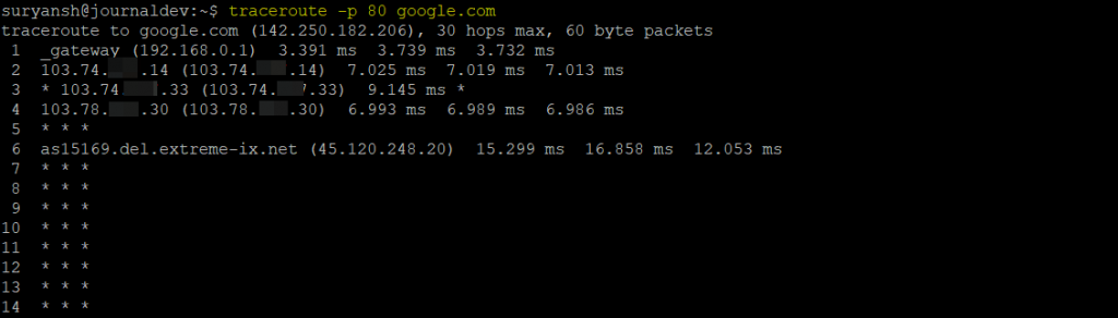 Specify Port In The Traceroute Command 1
