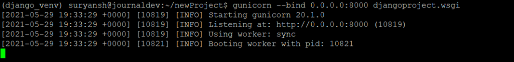 Testing Out Gunicorns Ability To Serve