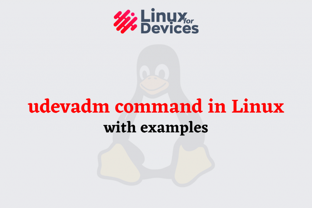 Basics Of Udevadm Command In Linux