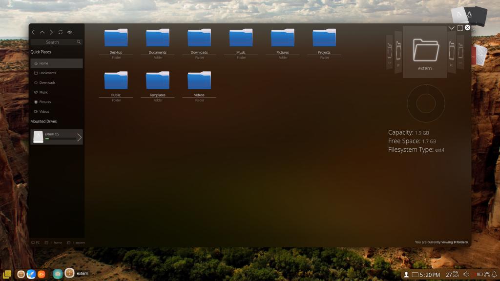ExternOS File Explorer