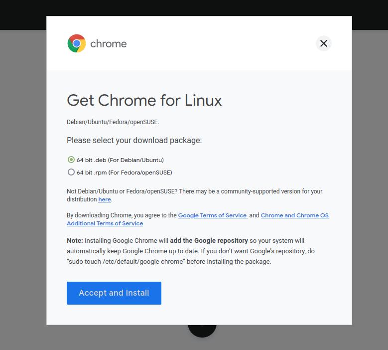 Install Google Chrome Debian