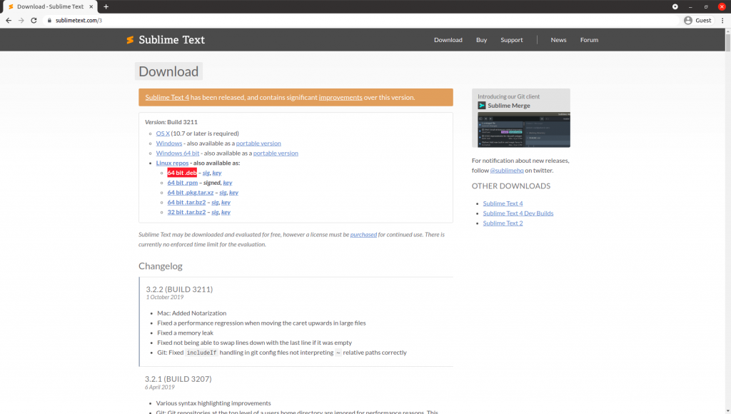 Sublime Text Debian Package Download