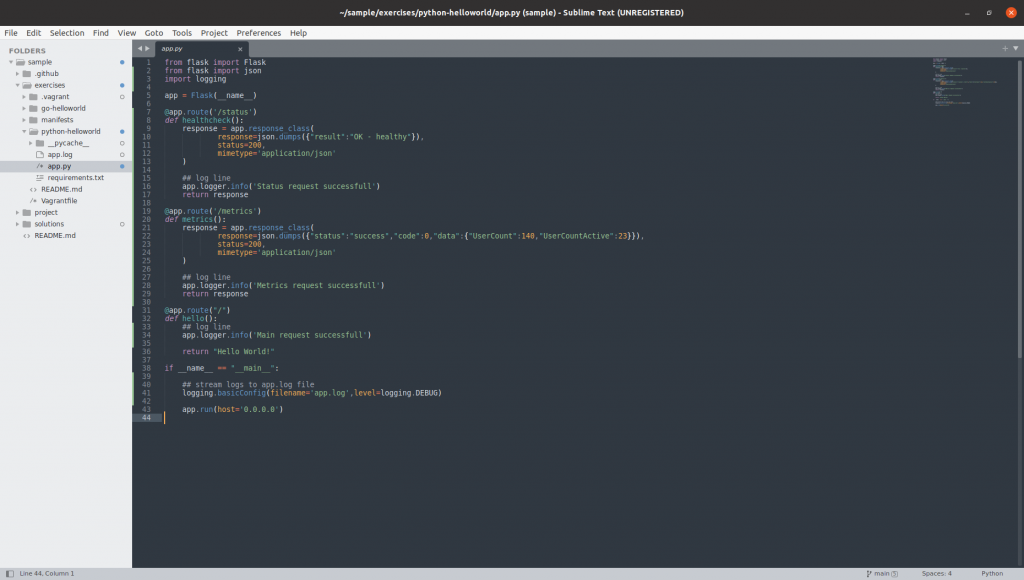 Sublime Text Running
