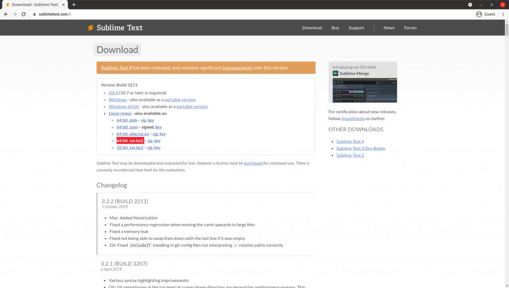 Sublime Text Zip Download