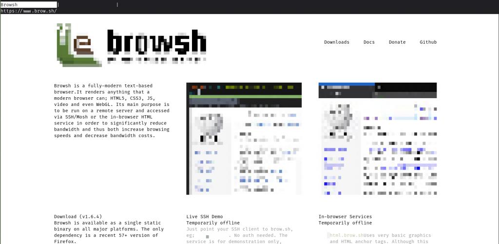 Browsh Startup