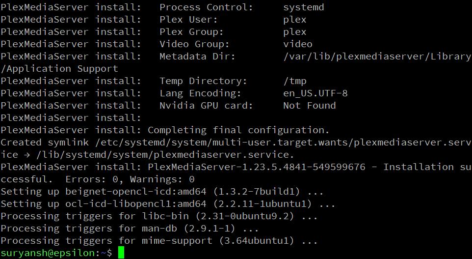 Installing A Plex Media Server 1
