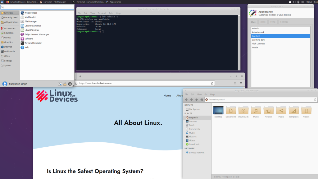 XFCE Desktop On System Running Xubuntu 1