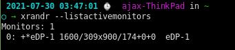 List Monitors