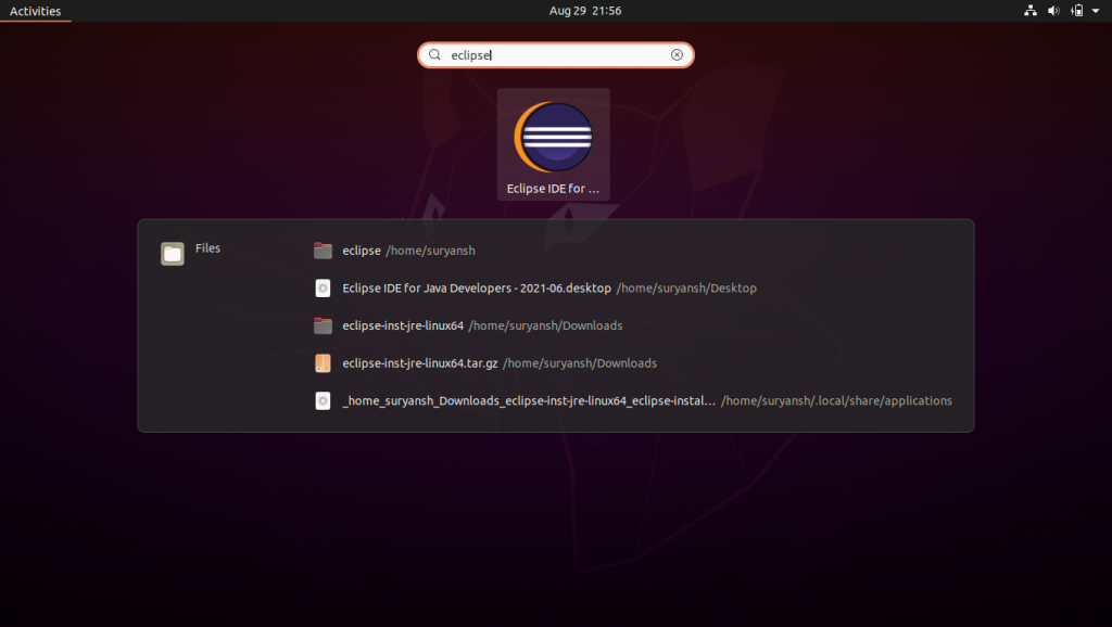 Launch Eclipse IDE From Activities