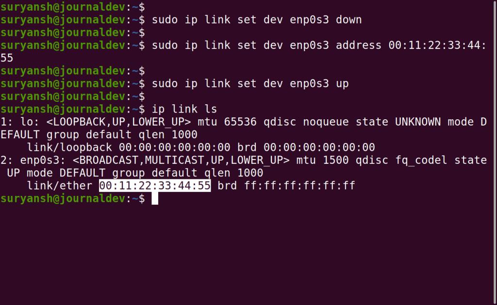 Verifying Spoofed MAC Address 1