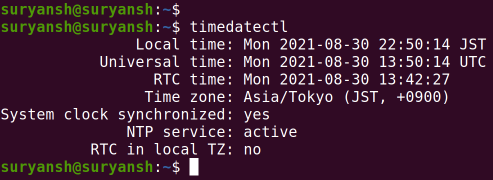 Verifying Time Zone